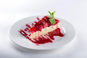 talerzyk deserowy z ciastem